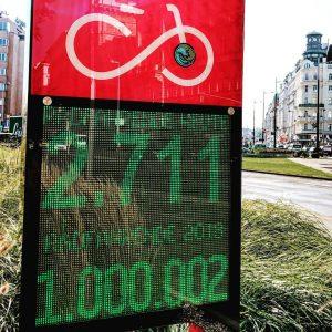 Juhu! Wir haben die 1 Millionen Radlerinnen und Radler in der Operngasse geknackt. Wieder zehn Tage früher als im Vorjahr. Danke an alle fürs fleißIige Radeln! 😊🚲 #fahrradwien #igersvienna #warumfährstdunicht Vienna