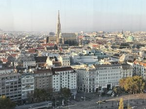 Ahhh, that pretty Vienna skyline! It's my first time here when it's not snowing and very cold,...