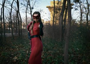 #magical #autumn #vienna #giuliettadelconte #contemporary #photo #artsy #artlover #artblogger #mask #red #artwork #collector #moments #mood #herbst #womanslook...