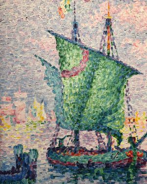 Paul Signac, 1909 - Venice, The Pink Cloud #albertina #paulsignac
