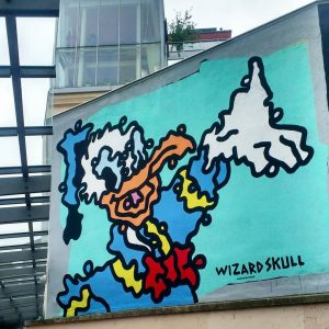 Hi Donald ! Wizardskull is everywhere in Vienna ! Fun fact : this artist designed over 200...