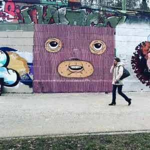 #TBT of this short lived Sweaterman face from earlier this year. #deadbeatheroart #graffitiwien #streetartwien #streetart #sweatermen #wearesweatermen #donaukanal #throwbackthursday