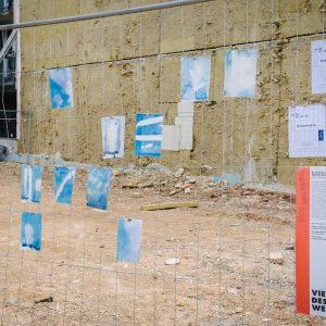💙 #blaustelle #workshop #viennadesignweek #vdw2018 #design #art #stadtarbeit #wien #1070 #neubau #cyanotypie #cyanotype ...