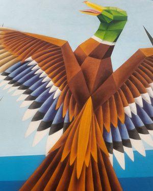 #wien #vienna #mural #graffiti #graff #streetart #duck #animal #wall #weekend #autumn #october