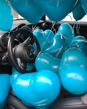 Ratespiel zum 4. Jubiläum von DriveNow in Wien! Wie viele 🎈 befinden sich in unserem Geburtstags-MINI Cabrio?...