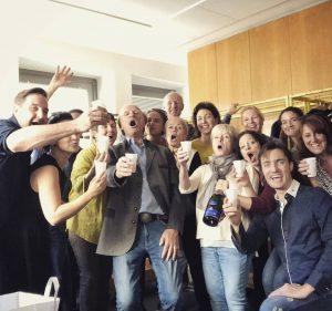 In der Pause während der Opernball-Probe gab's heute etwas zu feiern! Nämlich den 65. Geburtstag von Kurt...