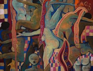 """Erstmals sind bei Galerie Kopriva Werke aus dem neuen Zyklus """"Hommage à Ver Sacrum"""" von Kurt Freundlinger..."""