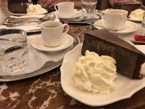 Austrian coffee and cake 😋
