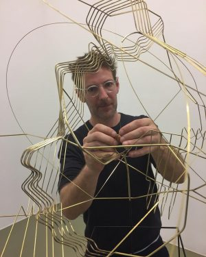 "Almost done !?! Constantin Luser preparing his exhibition ""Einfallswinkel gleich Ausfallswinkel"" at Crone Vienna. OPENING TOMORROW, October..."