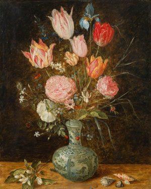 """Jan Brueghel der Jüngere """"Blumenstrauß in chinesischer Vase"""", um 1625/27. €50.000 - 100.000 Lotnummer 106 Auktion Alte..."""