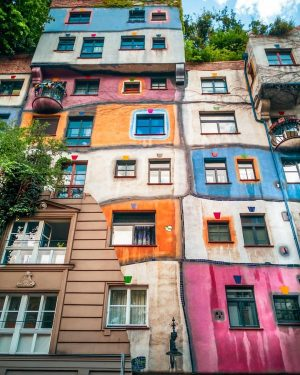 The Hundertwasser House in Vienna is one of Austria's architectural highlights. The house designed by Friedensreich Hundertwasser...