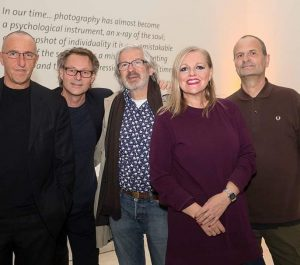 yesterday at the Dagmar Chobot sculpture award, Leopold Museum. l-r: Benno Pichler, Hans-Peter Wipplinger, Kurt Kladler, Elisa...