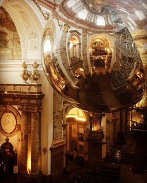 Installation by Thomas Saraceno at Vienna's Karlskirche.