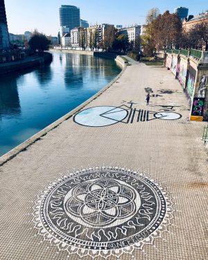 #donaukanal #running #streetart #streetartvienna #mandala #vienna #urbanrunners