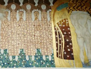 The Beethoven Frieze by Gustav Klimt in the Secession Building, Vienna, Austria - Finally saw it for...