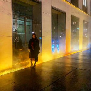 "Freezing Winter's night and feeling golden with Olafur Eliasson's - Yellow Fog - Light Spectacle"" in Vienna..."