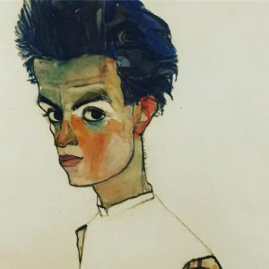 EGON SCHIELE Self Portrait @leopold_museum ##leopoldmuseumwien #schiele