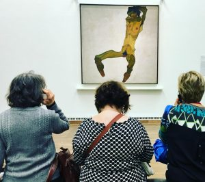 These ladies were really taking their time in front of #schiele 's nude! ...