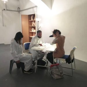 Doubling Michail Michailov during Vienna Art Week Speed Daiting _Michail Michail (artist) and Claire Hoffmann (curator) @emilia_smokova...