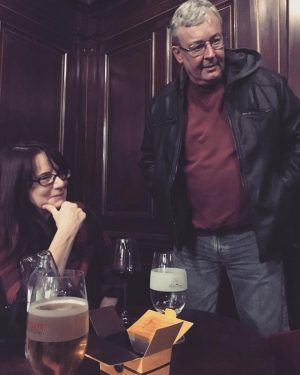 Brenez and Tscherkassky with beer and chocolates before the #Viennale screening of The ...