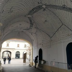 Putting the final touches on the first Star Passage at Vienna's #museumsquartier. Get your copy of Star...