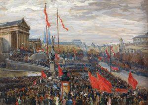 #onthisday 🎊 Heute vor 100 Jahren wurde die Republik ausgerufen. Rudolf Konopa, der an der Wiener Akademie...