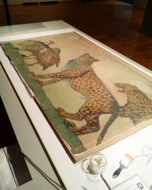 Conservational measures before the eyes of the public @wienmuseum This Artwork is part of the Noah's Ark...