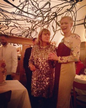 Casual Monday Evening attending Tilda Swinton's birthday 🎂🙊🍸 #pureelegance #majorcrush @ethelmerhaut @aanjaat @phildrax ...