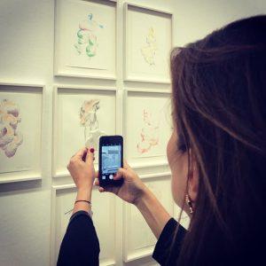 ... focus on the elephant... @albertinamuseum @erwinwurm #exhibition #opening #peace #plenty #wow #amazing #drawings #watercolors #somethingnew #contemporaryart...
