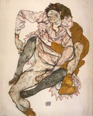 Egon Schiele. Seated couple 🖤