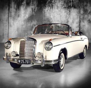 At more that 60 years old, it's astounding this #Mercedes-Benz 220 S #Cabriolet remains unrestored except for...