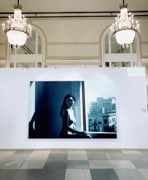 """in love with Gottfried Helnwein's beaut """"Annunciation"""" . . . #gottfriedhelnwein #hyperrealism #photorealism #contemporaryart #vienna #wien #oilpainting..."""
