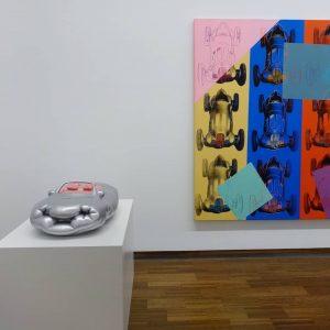 Erwin Wurm's Fatcar next to an Andy Warhol. 😊 @albertinamuseum #contemporaryart #modernart #art #artist #fineart #painting #museum...