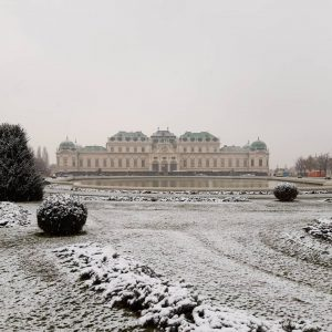 Good morning from Belvedere Museum! Winter has arrived with the first snow of this season ❄😍. Can...