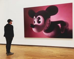 """Look at me now...👀"" #Wien#MickeyMouse#ModernArt#Painting"