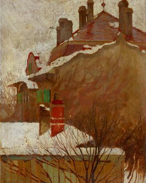 This was the view Egon Schiele had from his studio: Find many more paintings at our exhibition...