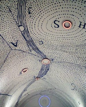 Walking through this new Passage at Museumsquartier Wien is definitely a Highlight. The Ceiling of the so...