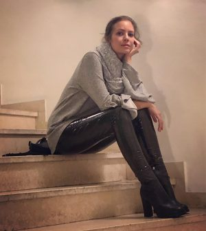 Tired woman on stairs by @steveherud Hotel DAS TRIEST