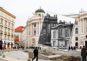 Bis 1888 befand sich das Burgtheater am Michaelerplatz, ehe es zum Ring übersiedelte. Das Theater hatte damals...