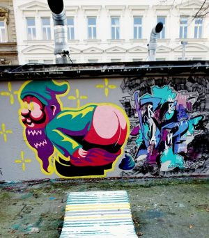Gartenzwerg #gnome #snowy #wintertime #muralart #mural #inthestreets #colours #art #painting #graffiti #urban #urbanart ...