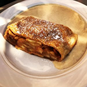 What's better than apple strudel? Apple strudel on a bed of vanilla sauce! The dessert that first...