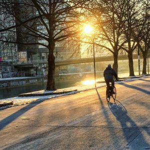 In der Früh so richtig munter werden! 😊🚲❄️ #fahrradwien #biketowork #fahrradwien #warumfährstdunicht