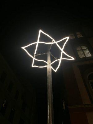 Projekt OT: permanente Lichtzeichen erinnern an das Novemberpogrom