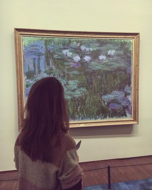 Claude Monet 💙 #art #paintings #claudemonet #monet #vienna #austria #exhibition #museum #albertina #girl #travel #explore #wander #discover...