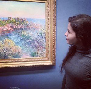 This painting made me happy #claudemonet #impressionism #claudemonetneartomontecarlo #art #albertina #exhibition