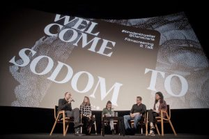 Once more a full @gartenbaukino on Wednesday with #kinodenktweiter & @dariadaria at #welcometosodom screening ❤️ . ....
