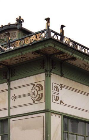 Karlsplatz Stadtbahn Station (1899) Arquitecto: Otto Wagner. Movimiento artístico: Secesión vienesa, que dará paso al modernismo.