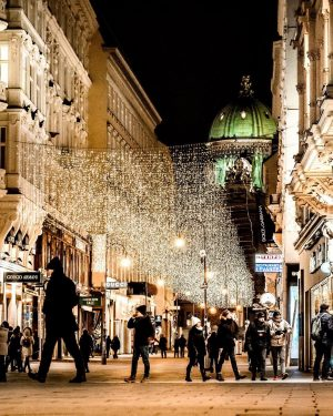 Kohlmarkt christmas lights, vienna! ✨✨🧔🏻🎒 | | | | #austria #vienna #discoveraustria #bestplacestogo #wonderlustvienna #beautifuldestinations #wienliebe #ig_captures...