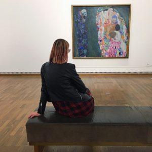 #klimt 💕 . . . . . . #art #artlover #muveszet #gustavklimt #vienna #wien #leopoldmuseum #todundleben #deathandlife...