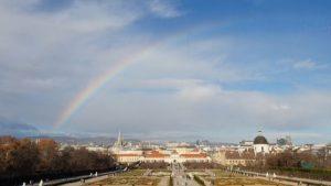 클림프 보러왔다가 본 태어나서 본 제일 선명한 무지개 🌈 #벨베데레궁전 #벨베데레상궁 #벨베데레궁전무지개 #무지개 #벨베데레 #belvedere #rainbow #belvedere_rainbow